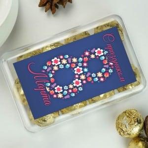 Набор конфет С праздником 8 марта дарья донцова с праздником 8марта рассказы о любви