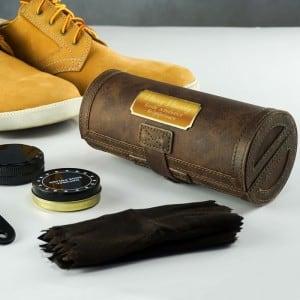 Набор для ухода за обувью Авторитет giftman несессер дорожный крем нейтральный губка щётка ложка для обуви шнурки ткань набор для ухода з