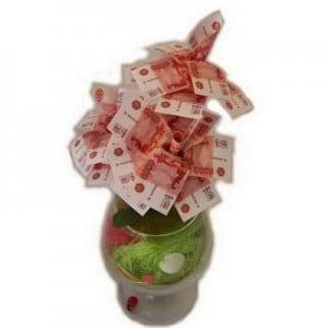 Денежное дерево в бокале - 5000 рублей