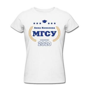 Именная футболка Выпускник института женская