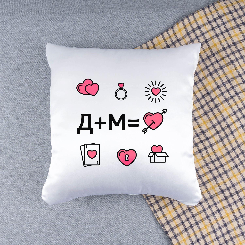Подушка с инициалами «Любовь» - 2