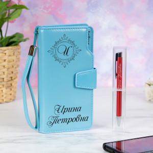 Набор портмоне с ручкой Имидж Премиум именной