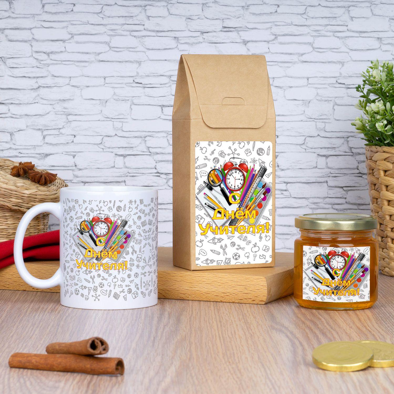 Кружка с чаем и медом «С Днем учителя»