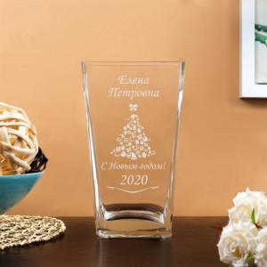 Ваза для цветов Пирамида С новым годом цена