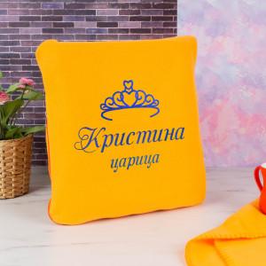 цена Именной плед-подушка