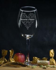 цена на Именной бокал для вина