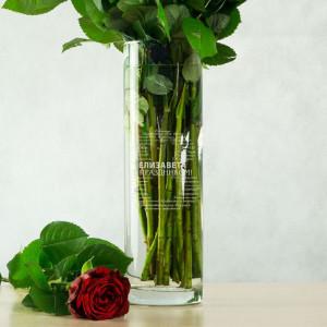 Именная ваза для цветов С пожеланиями на 8 марта ваза для цветов грация 8 марта