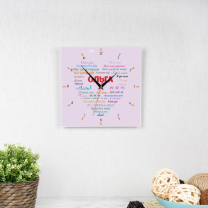 Фото - Часы квадро (женские) Любовь без границ именные 6013