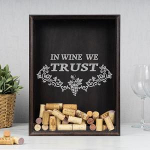 Копилка для пробок (бук) In wine we копилка giftman кот 13 см