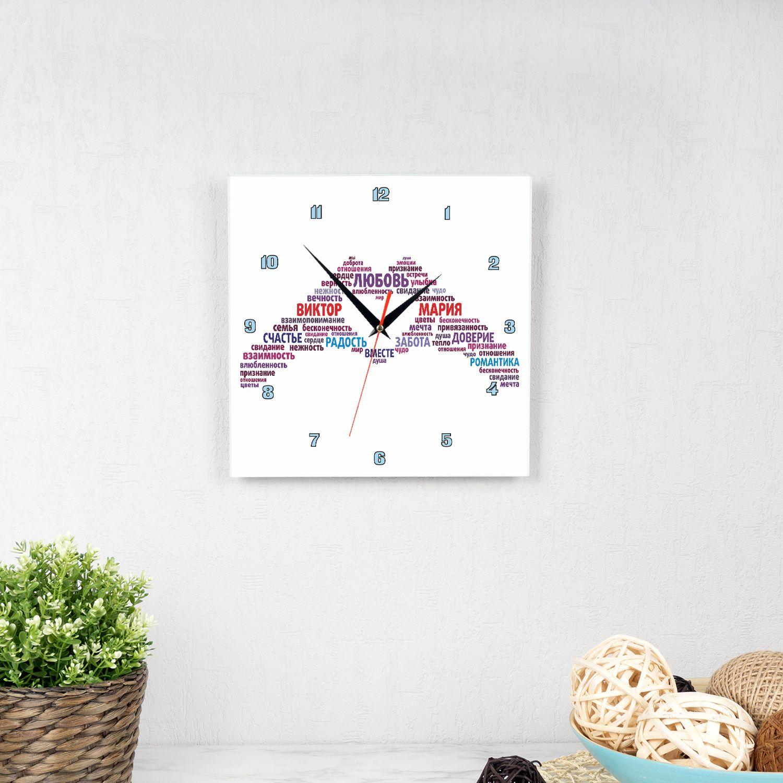 Часы квадро «Одна любовь на двоих»