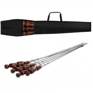 Набор шампуров с деревянными ручками Flame