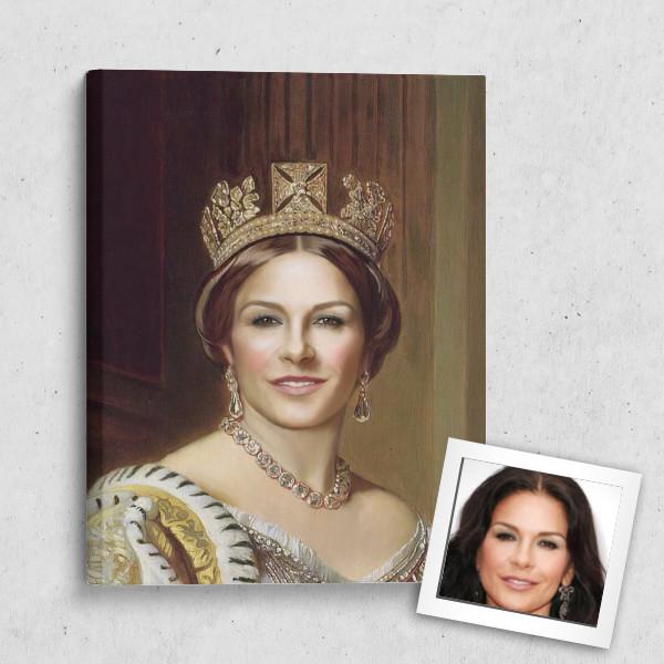 Портрет по фото *Королева*