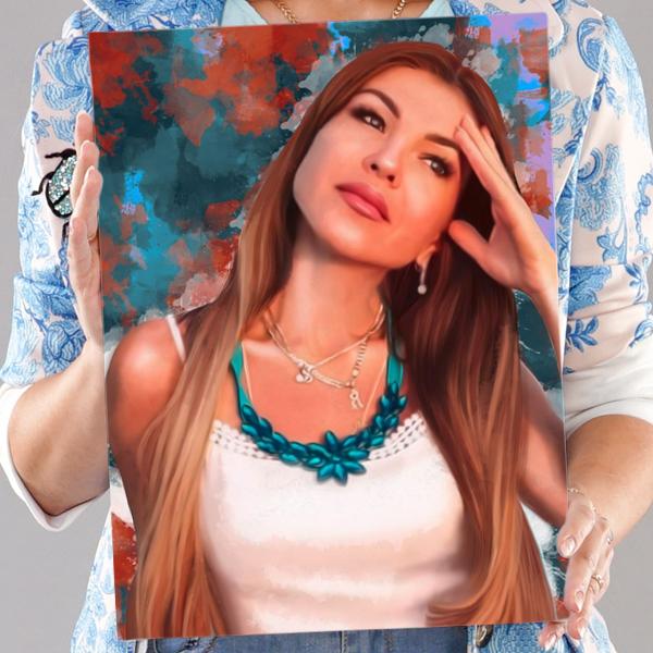 Классический женский портрет по фото