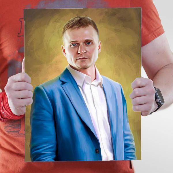 Классический мужской портрет по фото
