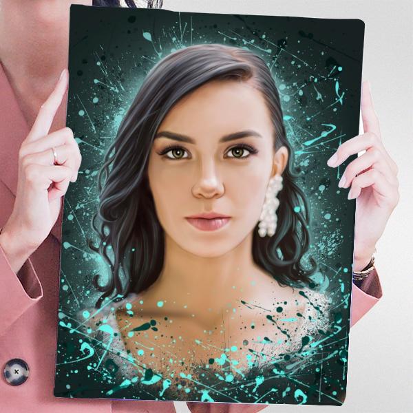 Женский портрет по фото в стиле Дрим-арт