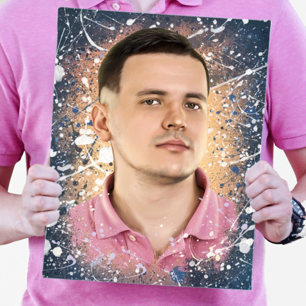 Мужской портрет по фото в стиле Дрим-арт